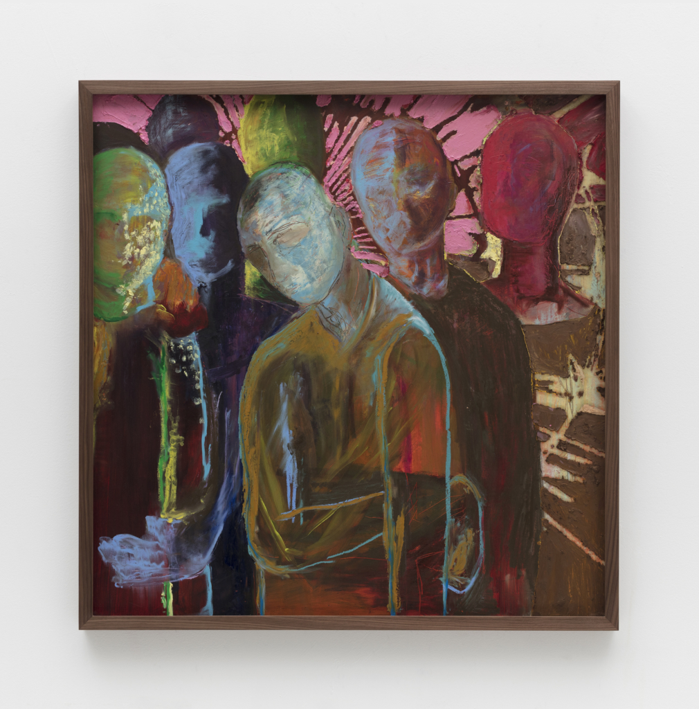 Kyle Thurman, Suggested Occupation 58 (Choir), 2020 Pastel and oil pastel on paper in artist's frame, 96.5 x 95.9 x 4.5 cm