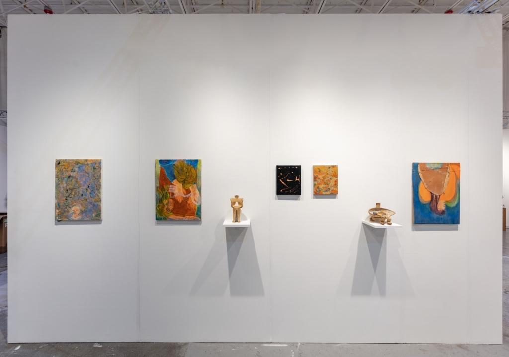 Anna Schachinger, installation view, Sophie Tappeiner at NADA Miami, 2019